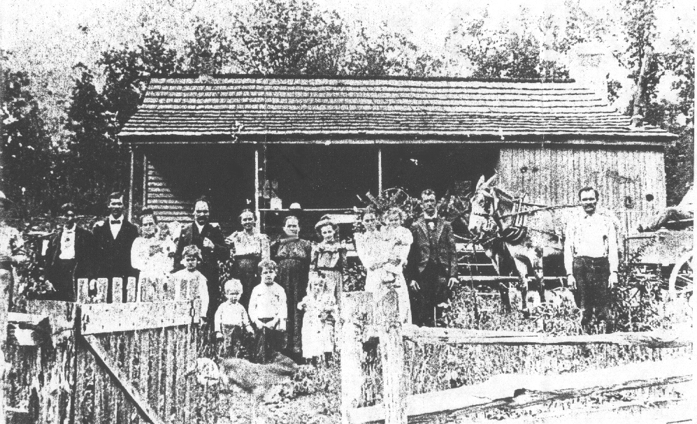 .GATHERING at the IRA HELTON home in 1901.