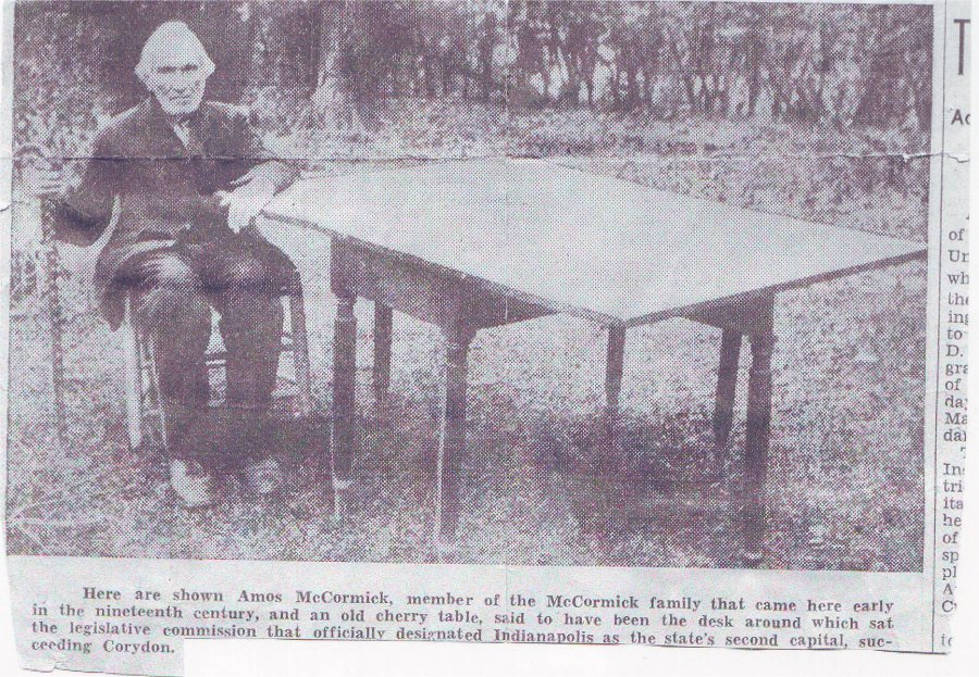 .Amos McCormick and his table.