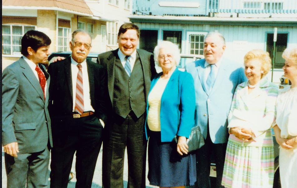 .June, 1987 photo taken by Doug Cherkas Thomas A. Husak, Stephen Zerkis, John Cherkas, Pearl Shapren, Al Shapren, Anna Sule, Frances Sule.