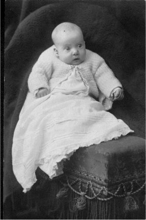 .Julie Guntle as a baby.