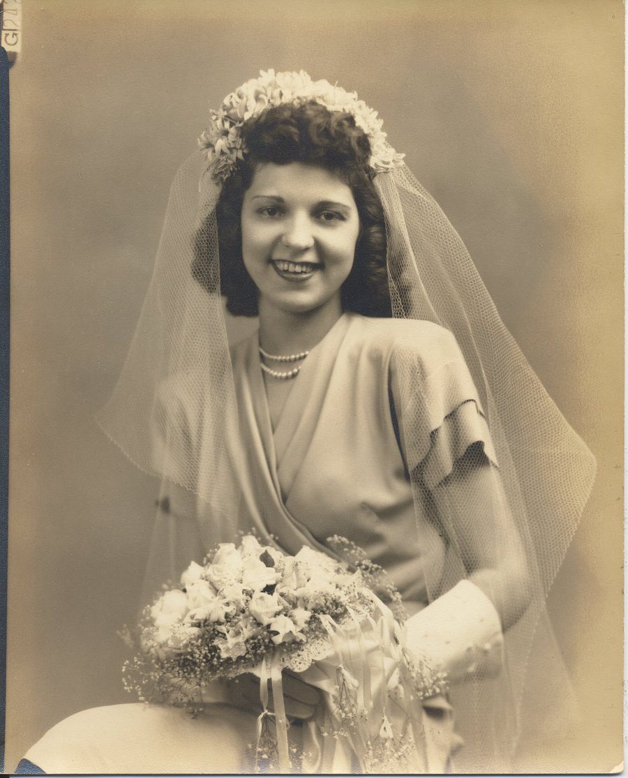 .Lillian Husak on her wedding day.