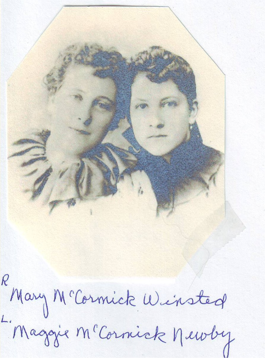 .Mary and Maggie McCormick.
