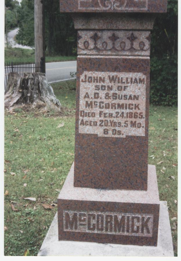 .John WIlliam McCormick headstone.