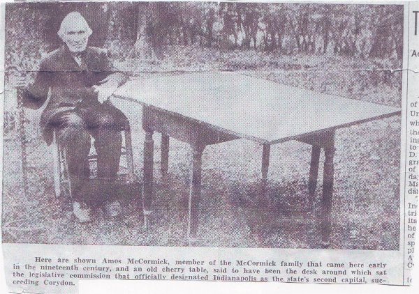 .Amos McCormick and the famous Desk.