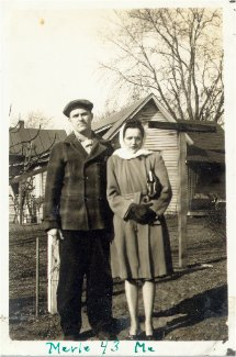.year 1943 Merle and Helen.