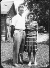 .year 1945 Merle and Helen.