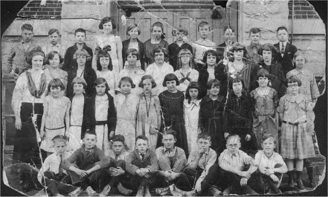 .Merles school picture, I believe he is the upper left.