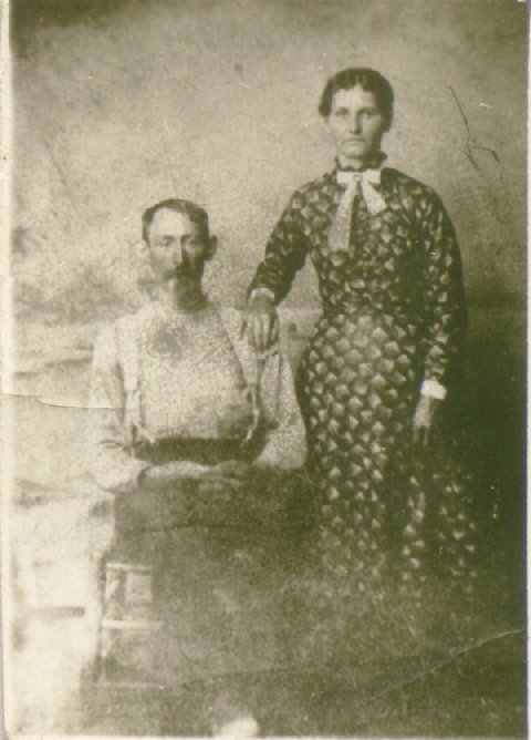 .Robert F. (b. 1852) and Nancy Elizabeth (Beal) Dossett   taken 1898.