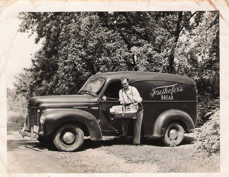 .Hughie and his Delivery Truck - Freihofers Bread.