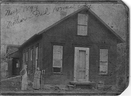 .1899 Lafayette McCormick and Emma [Leonard] McCormick  Muncie [Normal City] Indiana.