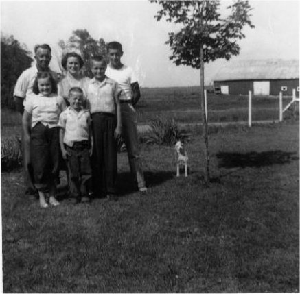 .Carl Sullivan Family with dog.