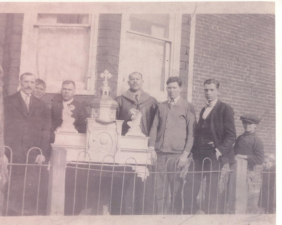 .altar tabernacle they built or had built for the then new Ukrainian Catholic church in Woodbine New Jersey.